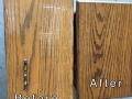Before & After Cabinet Refinishing
