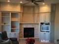 After - Painted Cabinets with glaze