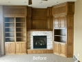 Before - Traditional Golden Oak Cabinets