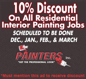 10 percent off interior painting jobs