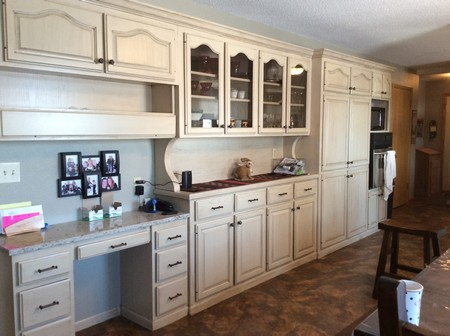 Transformed Oak Kitchen Cabinets Into Painted With Glaze On Revere Dr In Bismarck Nd By The Painters Inc